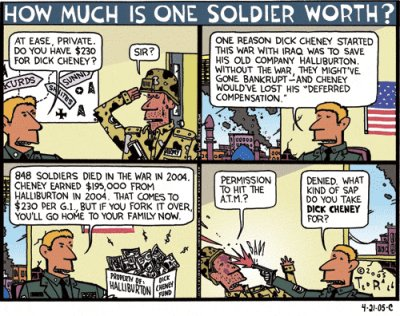 How much is one soldier worth?