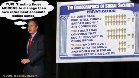 Bush and social security privatization