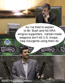 NRA explanation for Iranian made weapons