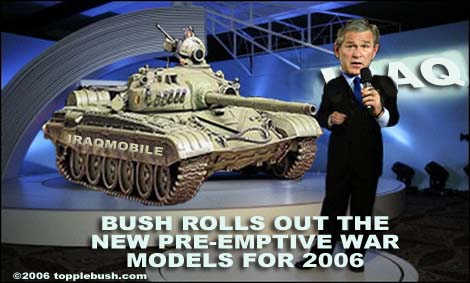 Bush rolls out new war model