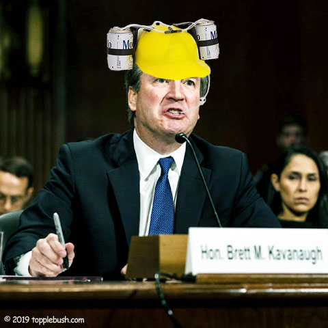 Kavanaugh at his confirmation hearing in the Senate