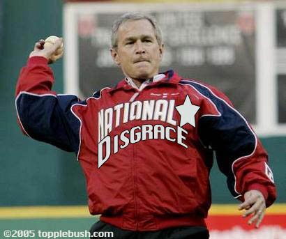 Bush throwing out baseball