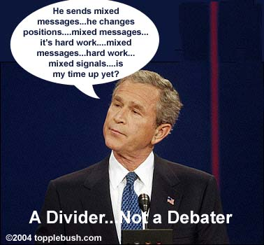 Bush during the debates