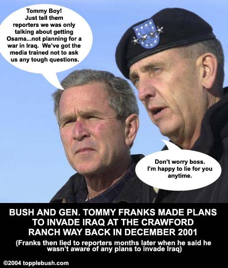 Bush and Gen. Tommy Franks