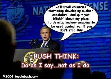 Bush giving speech on nuclear weapons