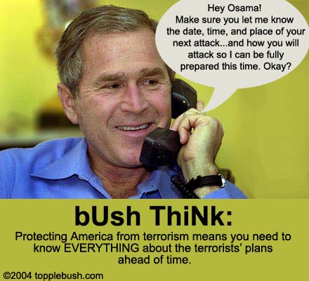Bush talking to Osama