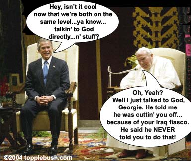 Bush meeting with Pope