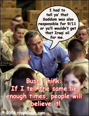 Bush talking to soldiers