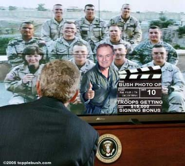 Bush teleconference with troops