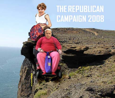 McCain campaign over cliff edge