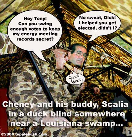 Cheney and Scalia duck hunting
