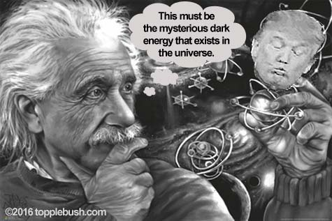 Einstein discovers dark energy in the universe