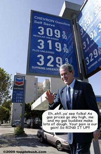 Bush happy about high gas prices
