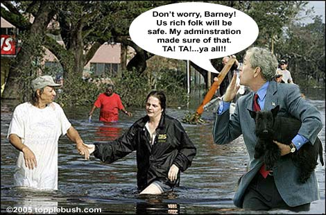 Bush and Barney survive hurricane