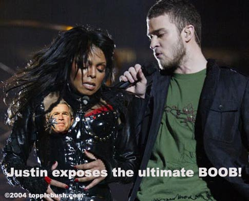 Janet and Justin at Super Bowl