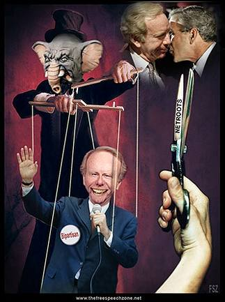 Puppet Joe Lieberman