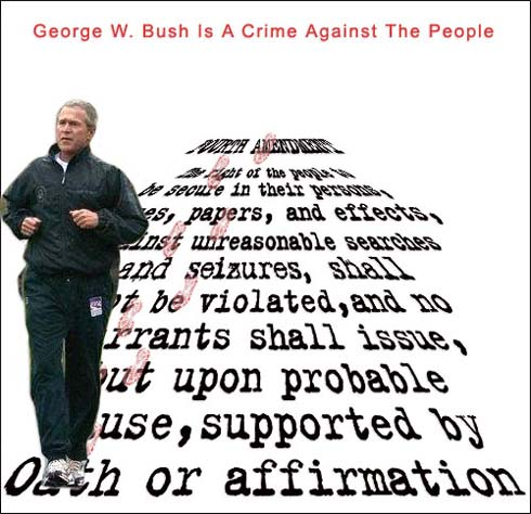 Bush walks on rights