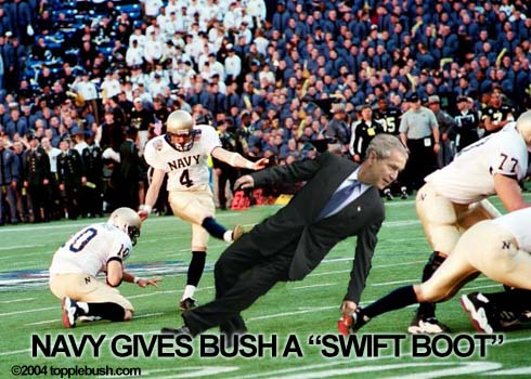 Navy gives Bush a swift boot