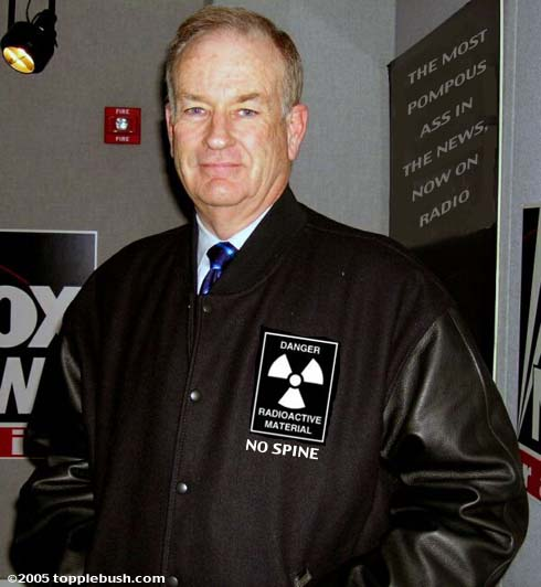 Bill O'Reilly models show promo jacket