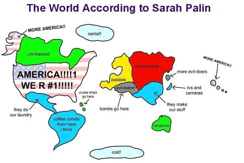Palin map of the world