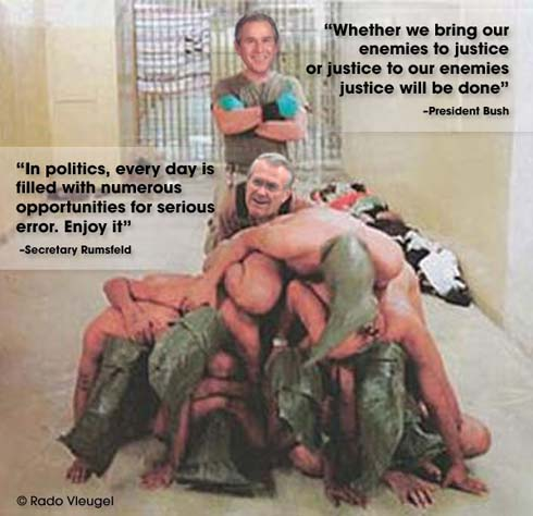 Bush and Rummy in Abu Ghraib