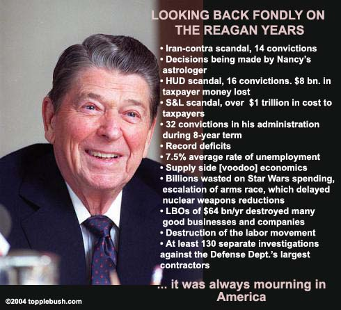 Fond farewell to Reagan