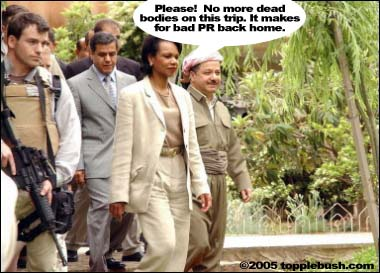 Condi Rice in Iraq