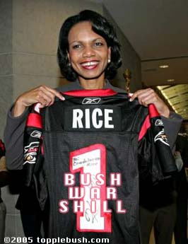 Condi Rice with Renegade's jersey