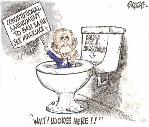 Bush in the toilet