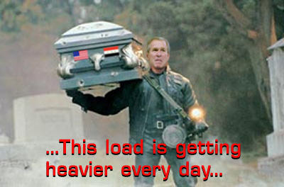 Bush carrying a casket