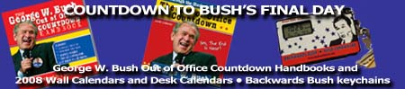 anti-Bush novelty items and gifts