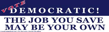 Vote Democratic sticker