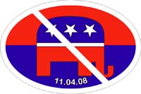 Anti-GOP bumpersticker