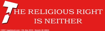 The religious right is neither sticker